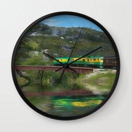White Pass Train Wall Clock