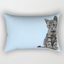 Kitty - PENCIL DRAWING Rectangular Pillow