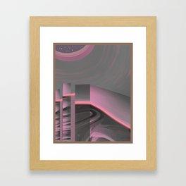 Claraboya, Geodesic Habitacle, Pink neon room Framed Art Print
