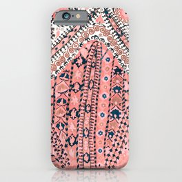 Light Pink Wildflower Sunshine III // 18th Century Colorful Pinkish Dusty Blue Gray Positive Pattern iPhone Case
