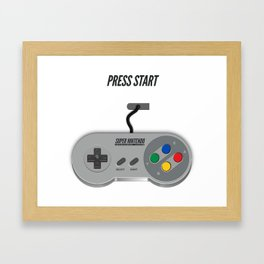 'PRESS START' Framed Art Print