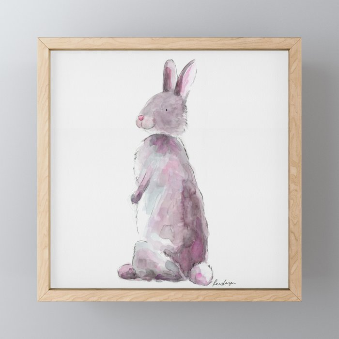 Bunny Rabbit Framed Mini Art Print