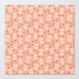 Pattern Project / Uh Oh Pattern Canvas Print