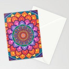 Lotus Rainbow Mandala Stationery Cards