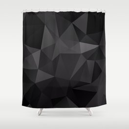 Abstract of triangles polygo in black colors Shower Curtain