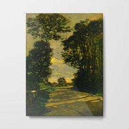 Claude Monet Impressionist Landscape Oil Painting Walk (Road of the Farm Saint-Siméon) 1864 Metal Print