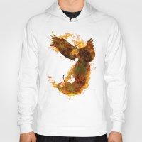 phoenix Hoodies featuring Phoenix by Barruf
