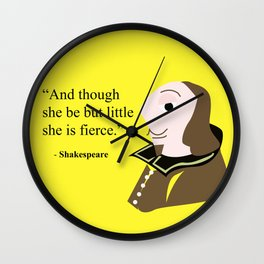 Shakespeare character, little and fierce Wall Clock