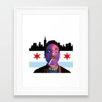 chance the rapper Framed Art Prints featuring Chance The Rapper by Emma Scintu
