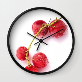 Frozen redcurrants Wall Clock