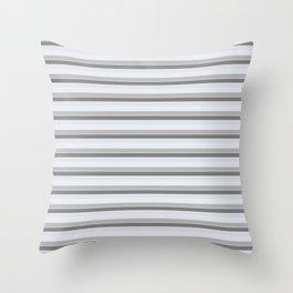Gray stripes Throw Pillow