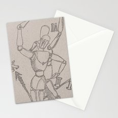 clock mannequins Stationery Cards