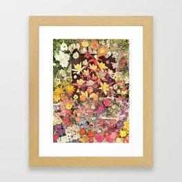 Flower Flower Flower Framed Art Print