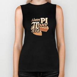 Pi Day 3.14 Number 3.14159265359... Math Geek Gift Biker Tank