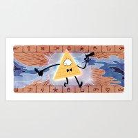 bill cipher Art Prints featuring Bill Cipher by Vaahlkult