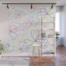 Colorful flower design Wall Mural