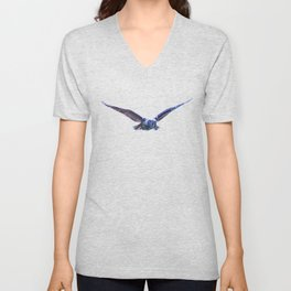 Owl flight Unisex V-Neck