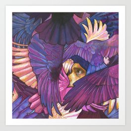 A Murder of Ravens Art Print