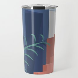 A Mediterranean view with plants and sun Travel Mug