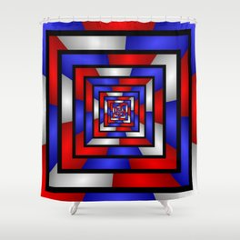 Colorful Tunnel 3 Digital Art Graphic Shower Curtain