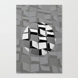 Grey Hole Canvas Print