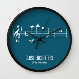 Close Encounters of the Third Kind - Alternative Movie Poster Wall Clock