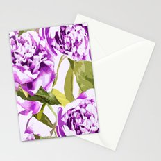 Peonies on a white background - #Society6 #buyart Stationery Cards