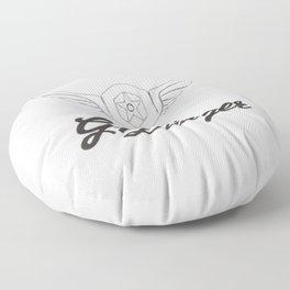 Gipsy Dangers Logo Floor Pillow