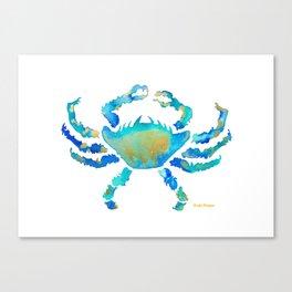 Craggy Blue Crab Canvas Print