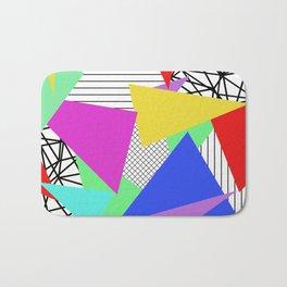 Bits And Pieces - Retro, random, abstract pattern Bath Mat