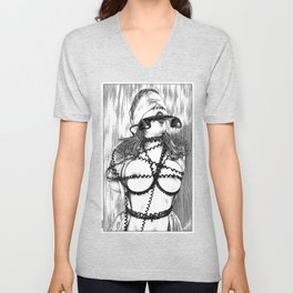 asc 648 - Les liens occultes (Tied up by a long distance relationship) Unisex V-Neck