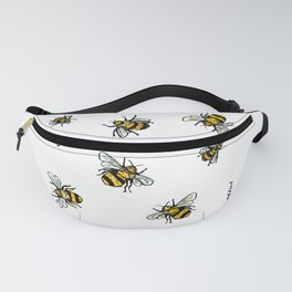 Just Some Beez B - White Fanny Pack