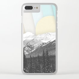 Morning Light Mountain Collage Clear iPhone Case