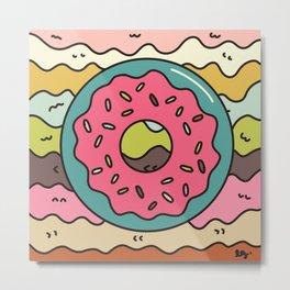 Dreamy Donut Metal Print