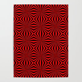Red Abstract Modern Pattern Art Design Poster