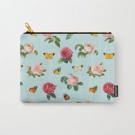 Las Rosas & Mariposas Carry-All Pouch