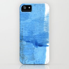 Corn flower blue hand-drawn wash drawing paper iPhone Case