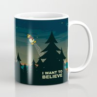 i want to believe Mugs featuring I want to believe by mangulica illustrations
