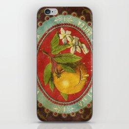 Orange Wine Label iPhone Skin