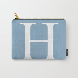 Letter H sign on placid blue color background Carry-All Pouch