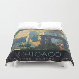 Vintage poster - Chicago Duvet Cover