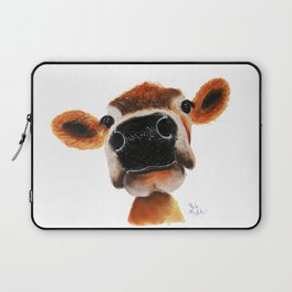 Nosey Cow ' JERSEY JOY ' by Shirley MacArthur Laptop Sleeve