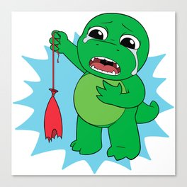 Little Dinosaur, Big Feelings (Pop) Canvas Print