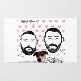 Beard Boy: Happy Dog Rug