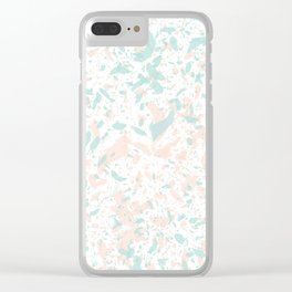 Speckled Cotton Candy Clear iPhone Case