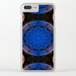 Mandala blue and orange Clear iPhone Case