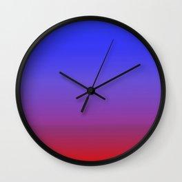 Blue Fire Gradient Wall Clock