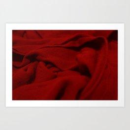 Red Velvet Dune Textile Folds Concept Photography Art Print