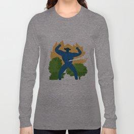 Jeeg attack Long Sleeve T-shirt