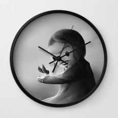 With fangs and love Wall Clock